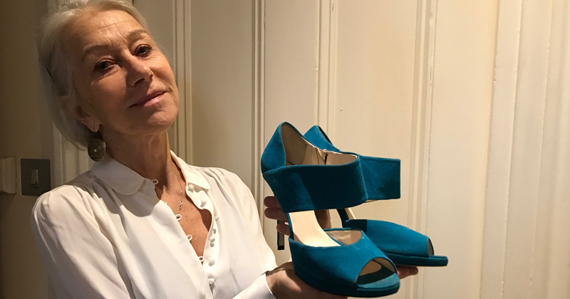 Dame Helen Mirren and shoes