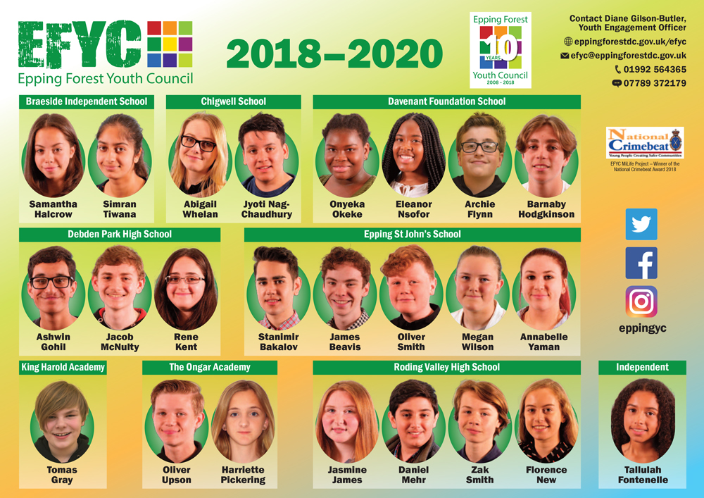 Epping Forest Youth Council poster 2018-2020