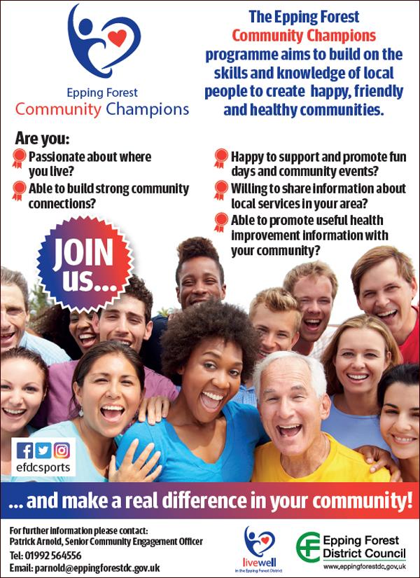 Community champions poster