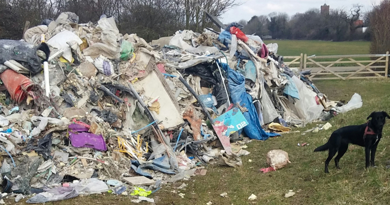 Fly tip at North Weald