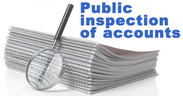 Public inspection of accounts