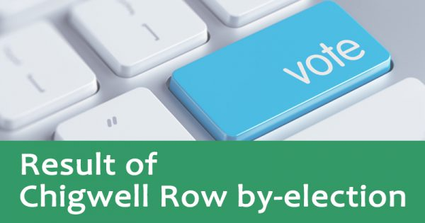 Result of Chigwell Row by election
