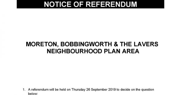 Notice pf referendum
