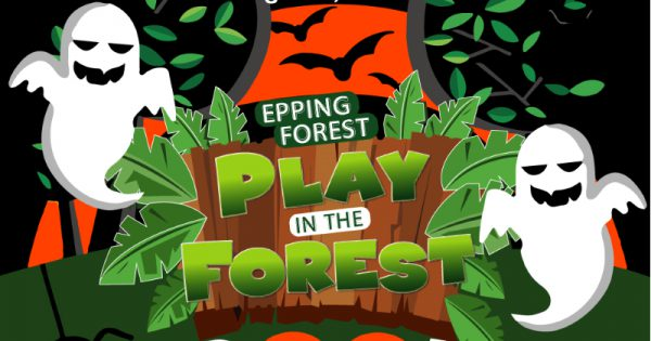 Spooky play in the forest