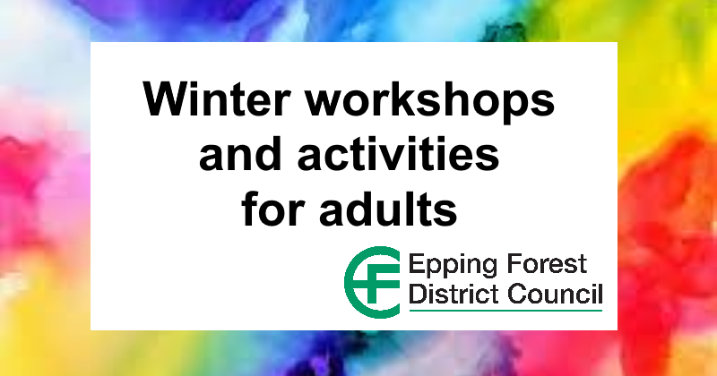 Winter workshops for adults