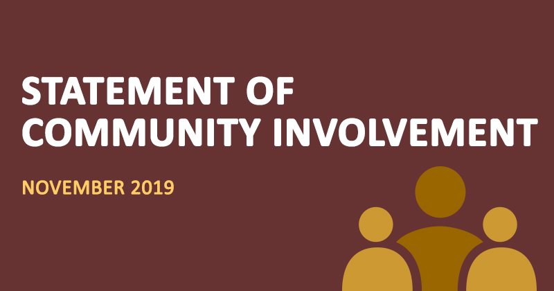 Statement of Community Involvement November 2019