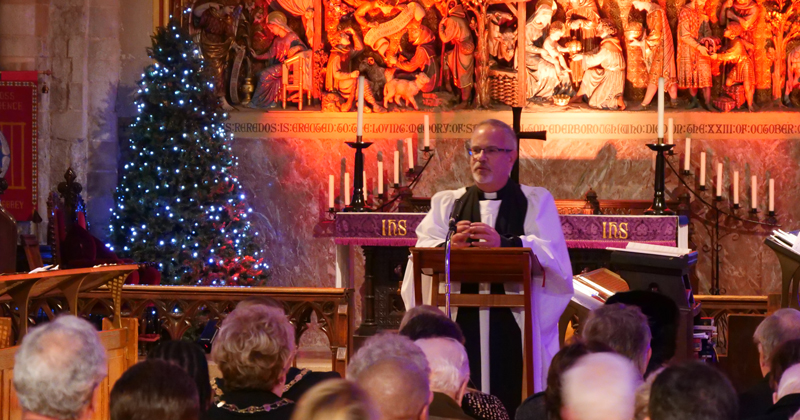 Christmas carol service at Waltham Abbey Church