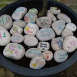 24 stones placed around the newly planted tree
