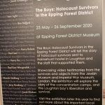 The Boys: Holocaust Survivors in the Epping Forest District exhibition sign