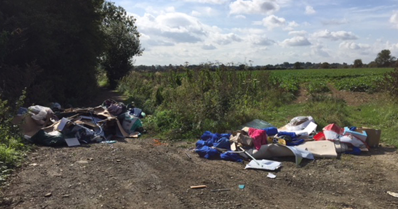 Flytip at Green Lane in Matching