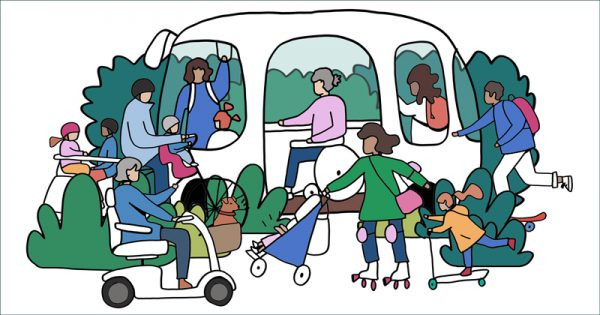 Harlow and Gilston Garden Town transport strategy active travel illustration