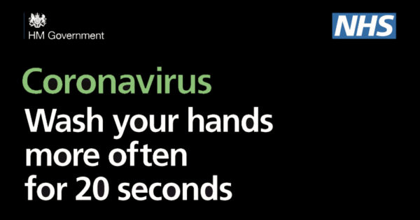 Coronavirus wash your hands more often for 20 seconds