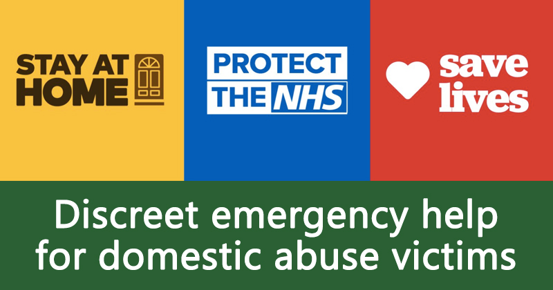 Discreet emergency help for domestic abuse victims