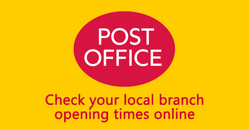 Post Office - Check your local branch opening times online