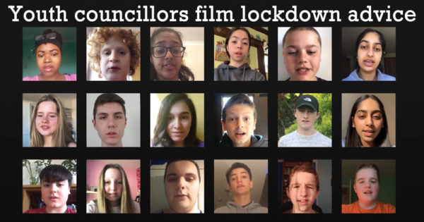 Youth councillors film lockdown advice