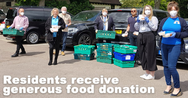 Residents receive generous food donation