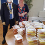 Chairman with meals to be delivered