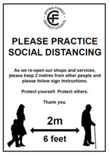 Social distancing poster number-2