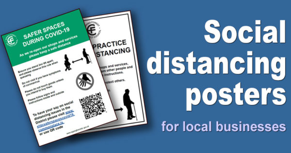 Social distancing posters for local businesses