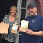 EFDC staff collecting food from local butchers for food parcels for resident