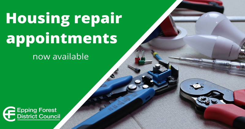Housing repair appointments now available