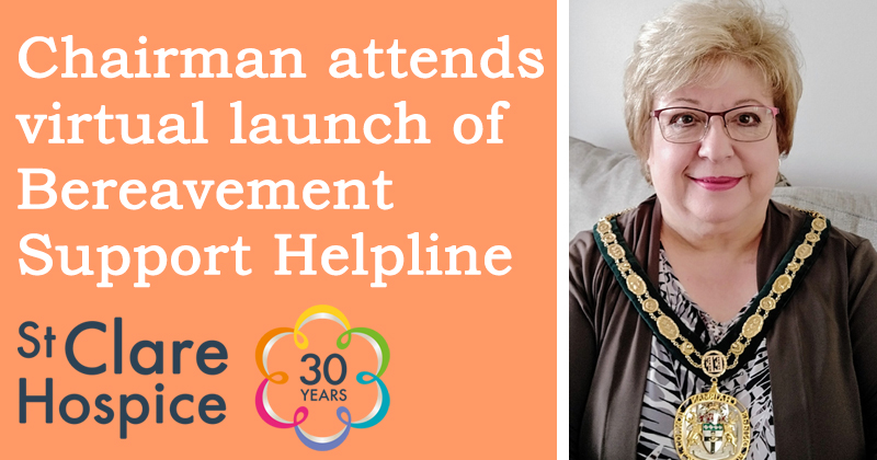 Chairman attends virtual launch of Bereavement Support Helpline