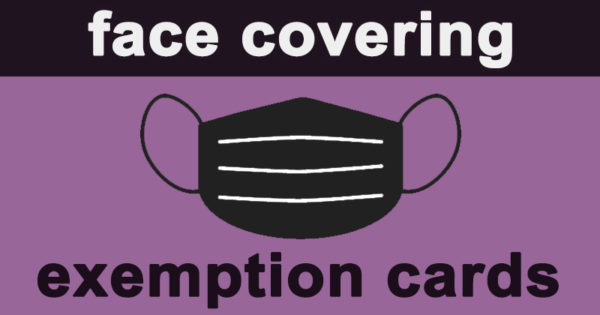 Face covering exemption cards