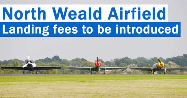North Weald Airfield - Landing fees to be introduced