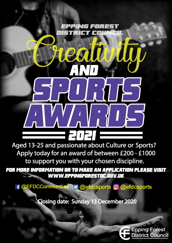 Creativity and Sports Awards 2021 poster