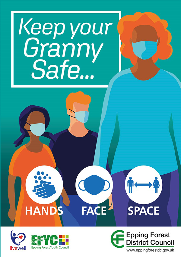 Keep your granny safe ... hands, face, space