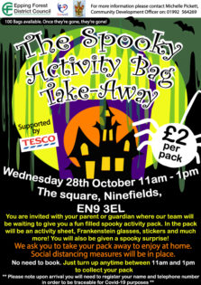 The spooky activity bag takeaway at Waltham Abbey