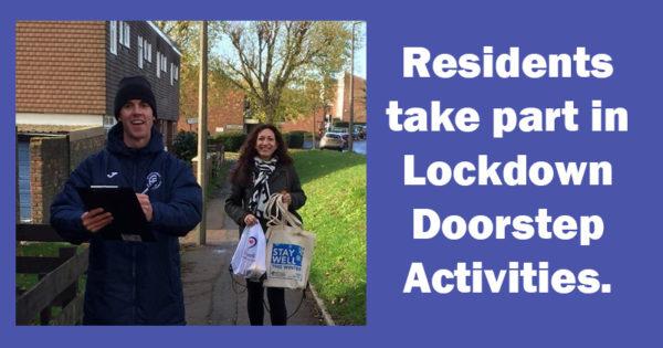 Residents take part in lockdown doorstep activites