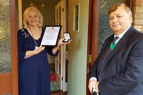 Mary Morgan Joint Citizen of the Year winner with Cllr Richard Bassett