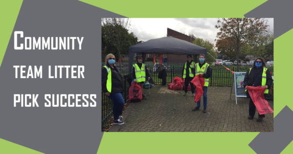 Community team litter pick success