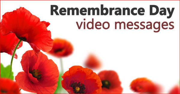 Remembrance Day video messages