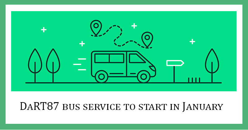 DaRT87 bus service to start in January 2021
