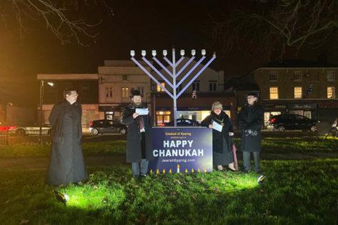 Lighting of the Menorah Rev Lee Batson, Rabbi Yossi Posen, Cllr S Kane & Cllr H Kane