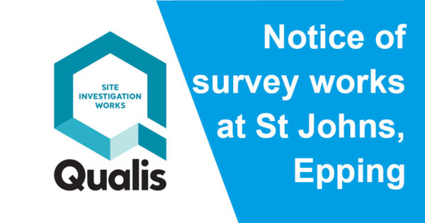 Notice of survey works at St Johns