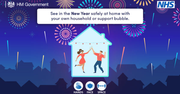 See in the New Year safely at home with your own household or support bubble