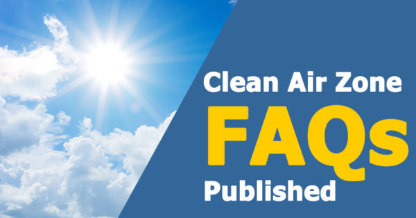 Clean Air Zone FAQs published