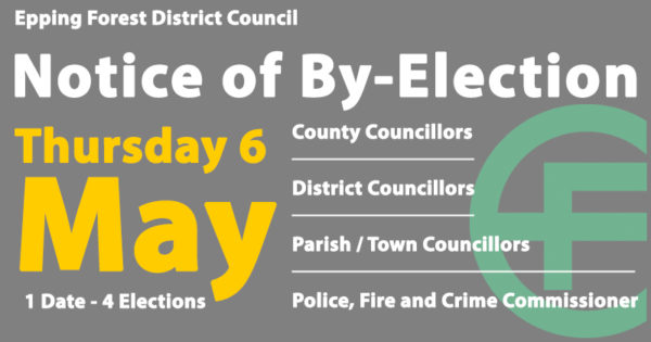 Notice of by-election on 6 May