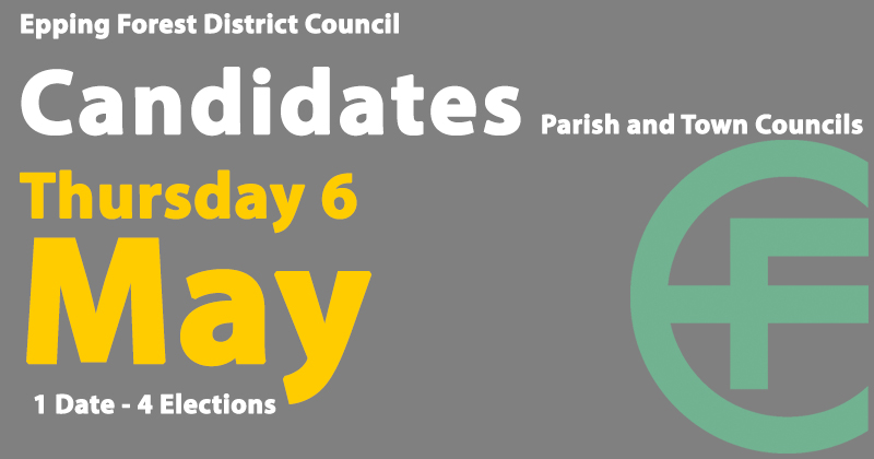 Candidates for the 6 May 2021 Parish and Town Council elections