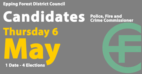Candidates for the 6 May 2021 PFCC election