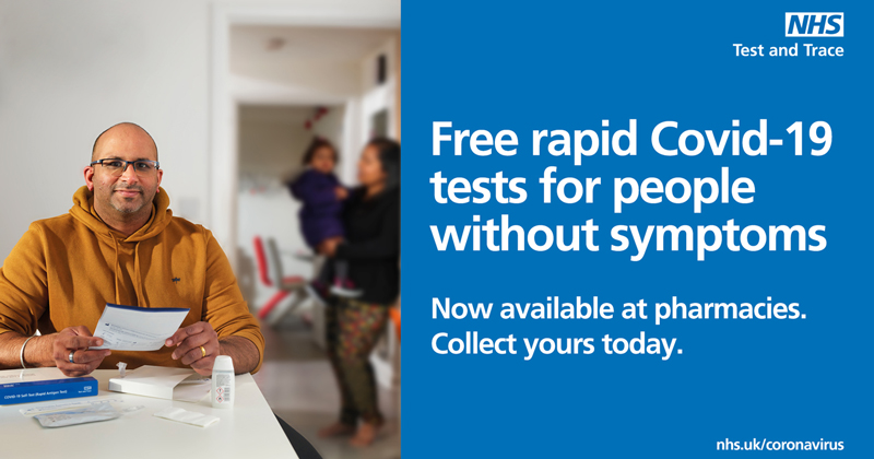 Free rapid Covid-19 tests for people without symptoms