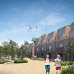 Artist impression of the proposed site at Roundhills, Waltham Abbey