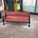 Benches renovated – before and after