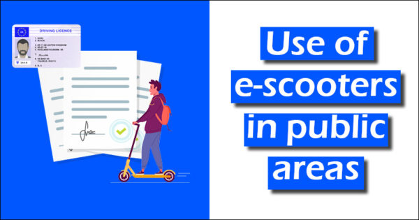 use of e-scooters in public areas