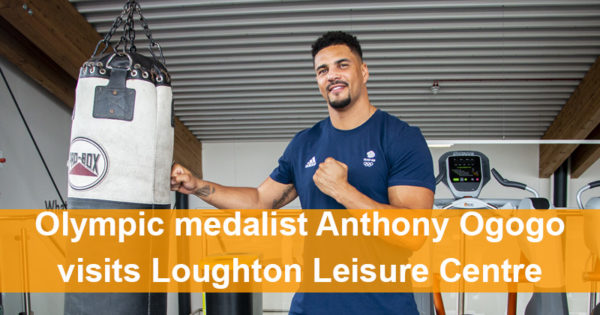 Olympic medalist Anthony Ogogo visits Loughton Leisure Centre