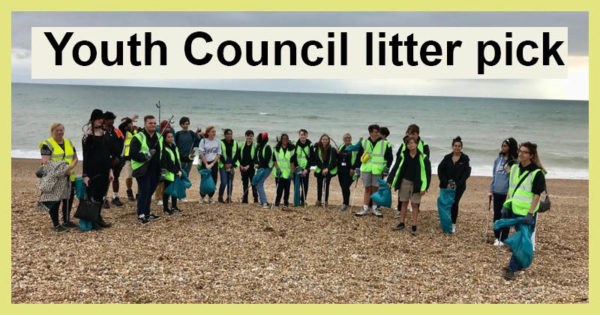 Youth Council go litter picking