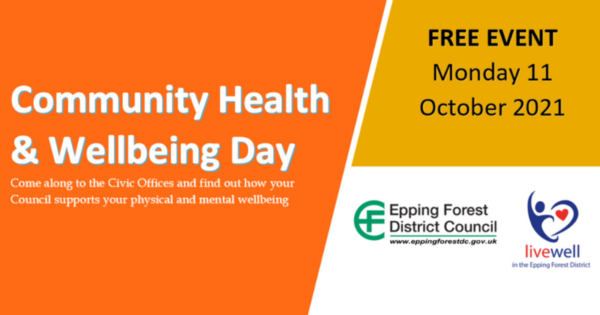 Community Health & Wellbeing Day Free Event Monday 11 October 2021